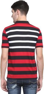Kingswood Striped Men's Polo Neck Black T-Shirt