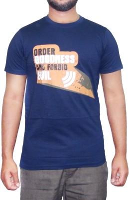 pious fashion club Printed Men,s, Boy's Round Neck Dark Blue T-Shirt