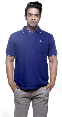 Fashnopolism Solid Men's Polo Blue T-Shirt