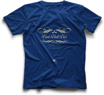 Thinkpop Printed Men's Round Neck Blue, Yellow T-Shirt