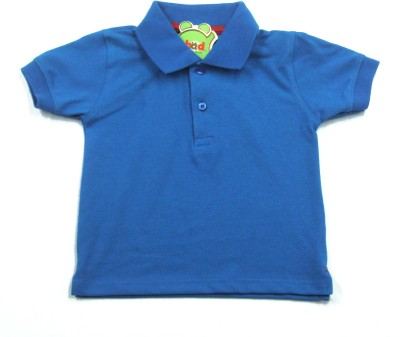 Ahad Solid Baby Boy's Polo Blue T-Shirt