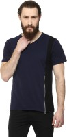 Yepme T Shirts (Men's) - Yepme Solid Men's V-neck Blue, Black T-Shirt