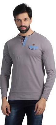 Nostrum Jeans Solid Men's Round Neck Grey, Dark Blue, Light Blue T-Shirt