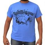 Hussky Graphic Print Men's Round Neck Bl...