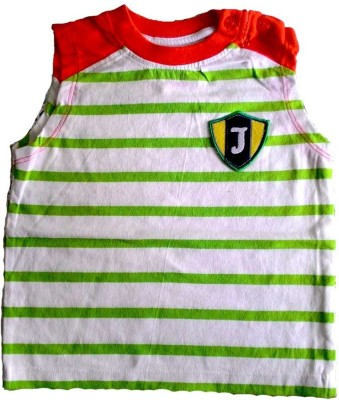 Cool Club Printed Boy's Round Neck White, Red, Green T-Shirt