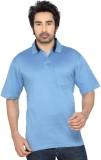Thinc Solid Men's Polo Neck Light Blue T...