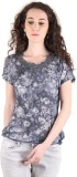 Chimera Printed Women's Round Neck Grey ...