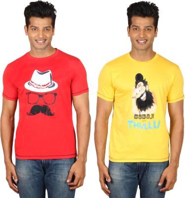 Habitude Printed Men's Round Neck T-Shirt