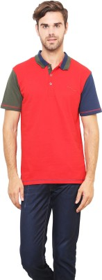 Lemon & Vodka Solid Men's Polo Neck Red T-Shirt