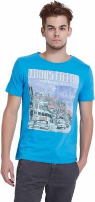 Breakbounce Printed Men's V-neck Light Blue T-Shirt