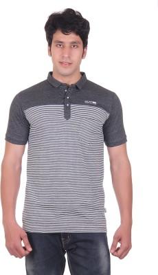 Montreal Striped Men,s Polo Black T-Shirt