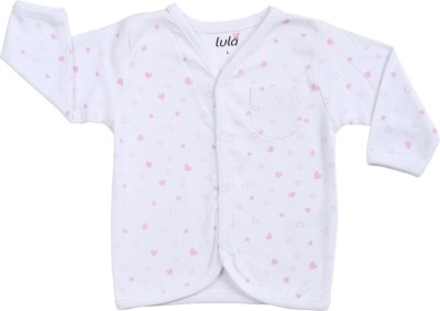 Lula Casual Full Sleeve Printed Baby Girl's White Top
