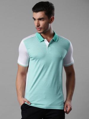 Invictus Striped Men's Polo Neck Blue, White T-Shirt
