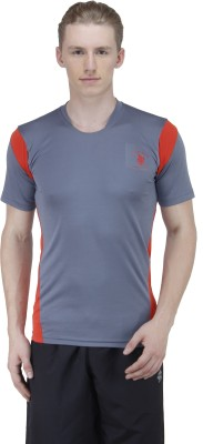 Green Wich United Polo Club Solid Men's Round Neck Grey T-Shirt