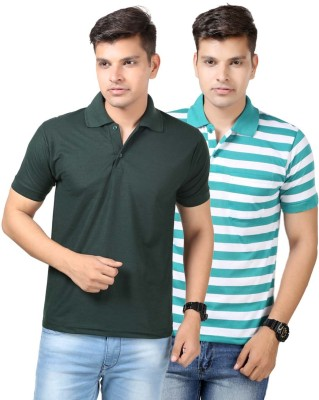 Etoffe Solid Men's Polo Multicolor T-Shirt