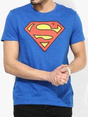 Sprat Graphic Print Men's Round Neck Blue T-Shirt