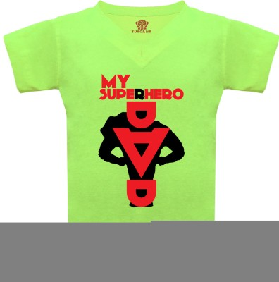 Tuscans Graphic Print Baby Boy's V-neck Light Green T-Shirt