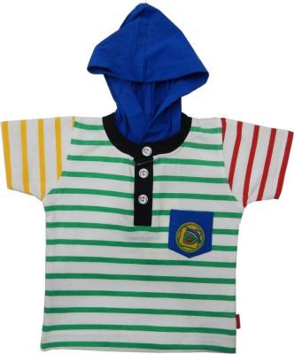Kooka Kids Striped Baby Boy's Hooded T-Shirt