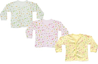 Infano Printed Baby Girl's Round Neck Multicolor T-Shirt