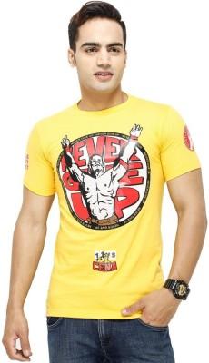 Yuva Printed Men's Round Neck Yellow T-Shirt