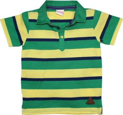 FS Mini Klub Printed Boy's Polo Neck Green T-Shirt