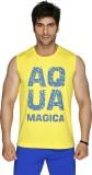 Aquamagica Printed Men's Round Neck Yell...
