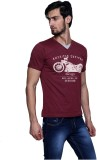 Era of Attitude Printed Men's V-neck Mar...