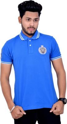 Mauve Printed Men's Polo T-Shirt