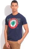 Flippd Printed Men's Round Neck Blue T-S...