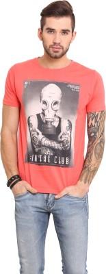 Mode Vetements Printed Men's Round Neck Orange T-Shirt