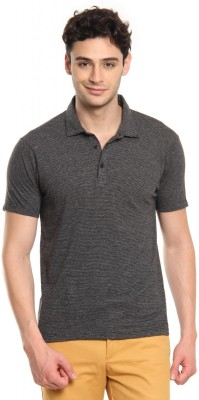 Cottonworld Solid Men's Polo Grey T-Shirt