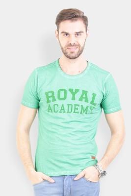 Crocodile Printed Men's Polo Green T-Shirt