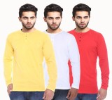 NE Solid Men's Henley T-Shirt