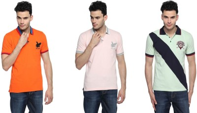 Swing9 Embroidered Men's Polo Neck Multicolor T-Shirt