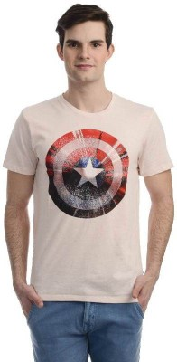 Marvel Comics Printed Men's Round Neck Grey T-Shirt