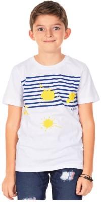 Aristot Striped Boy,s Round Neck Blue T-Shirt