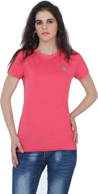 The Cotton Company Solid Women's Round Neck T-Shirt