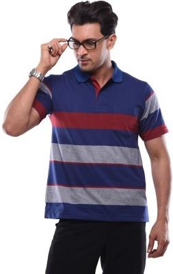 SHAYAN EXPORT Printed Men's Round Neck Blue T-Shirt