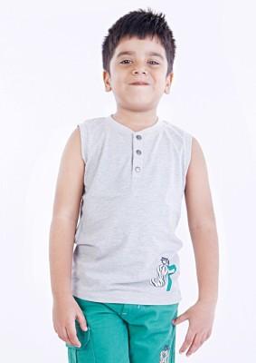 Milou Graphic Print Boy's V-neck T-Shirt