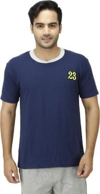 1OAK Solid Men's Round Neck Blue T-Shirt