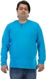 Bigbanana Solid Men's Henley Light Blue ...