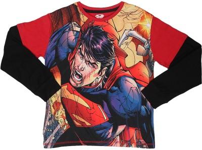 Superman Printed Boy's Round Neck Red T-Shirt