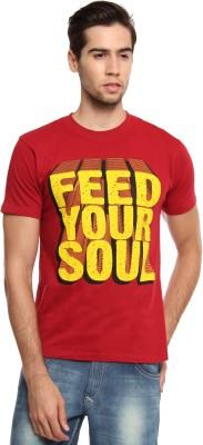 Zovi Graphic Print Men's Round Neck Red T-Shirt