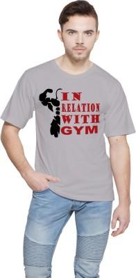 Shopping Monster Printed Men,s Round Neck Grey T-Shirt