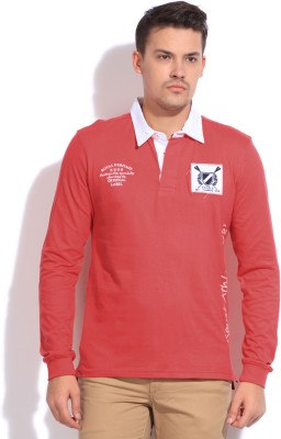 People Printed Men's Polo Red T-Shirt
