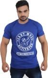 CarbonFIT Printed Men's Round Neck Blue,...