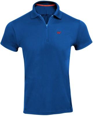 Wildcraft Solid Men's Polo Blue T-Shirt