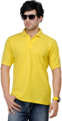 TSX Sportsman Solid Men's Polo Yellow T-Shirt