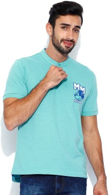 Kook N Keech Disney Solid Men's Henley T-Shirt