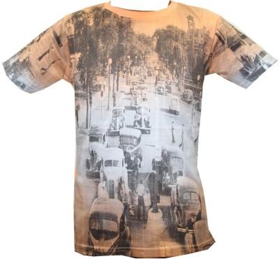 Kidsmasthi Printed Boy's Round Neck T-Shirt